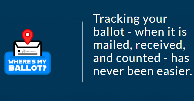 tracking your ballot has never been easier