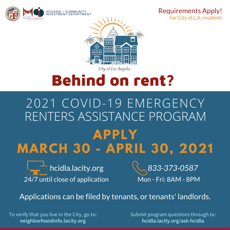 Apply For Rental Assistance By April 30 Eccandc