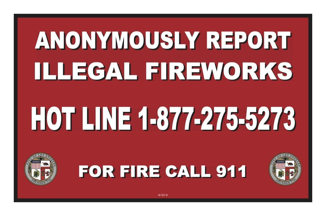 call to report fireworks